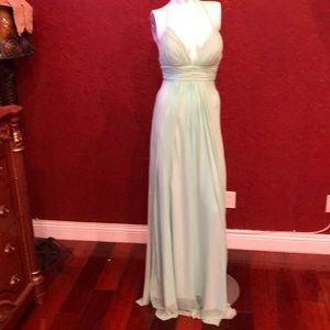 Amelia Couture Halter Mesh Dress Green size 4